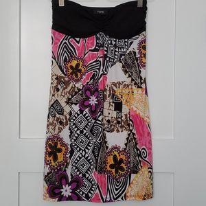 Strappless mini dress
